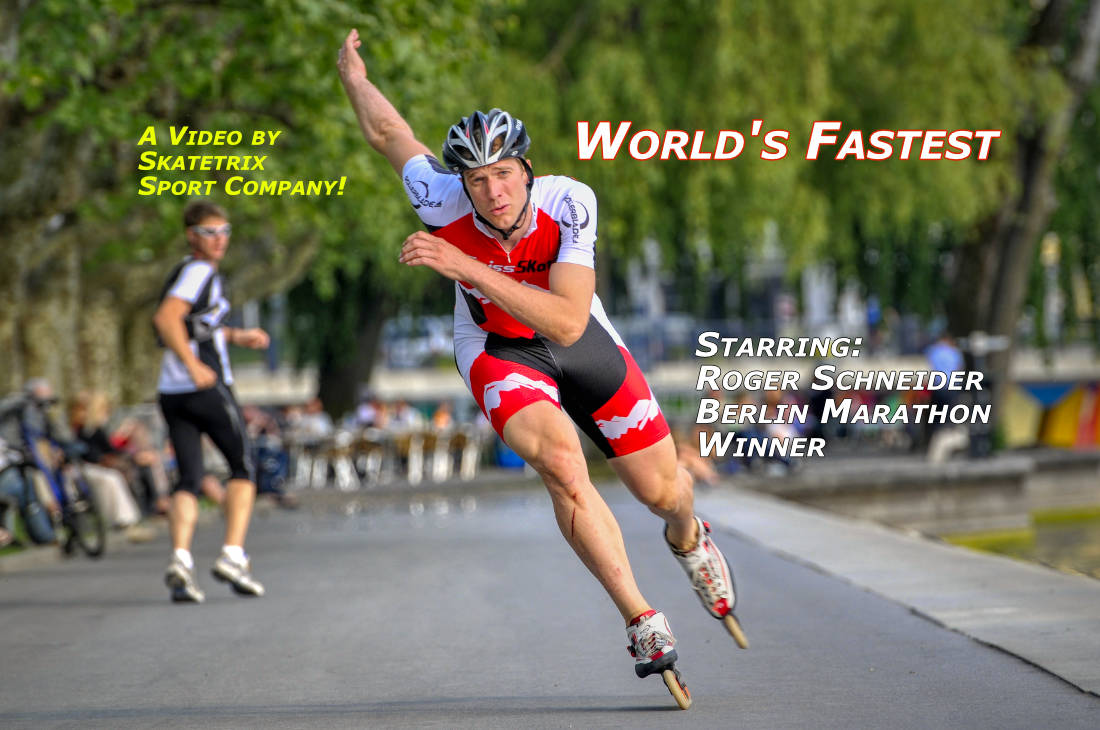 Video: WORLD'S FASTEST! With World record skater marathon speed skating Roger Schneider!